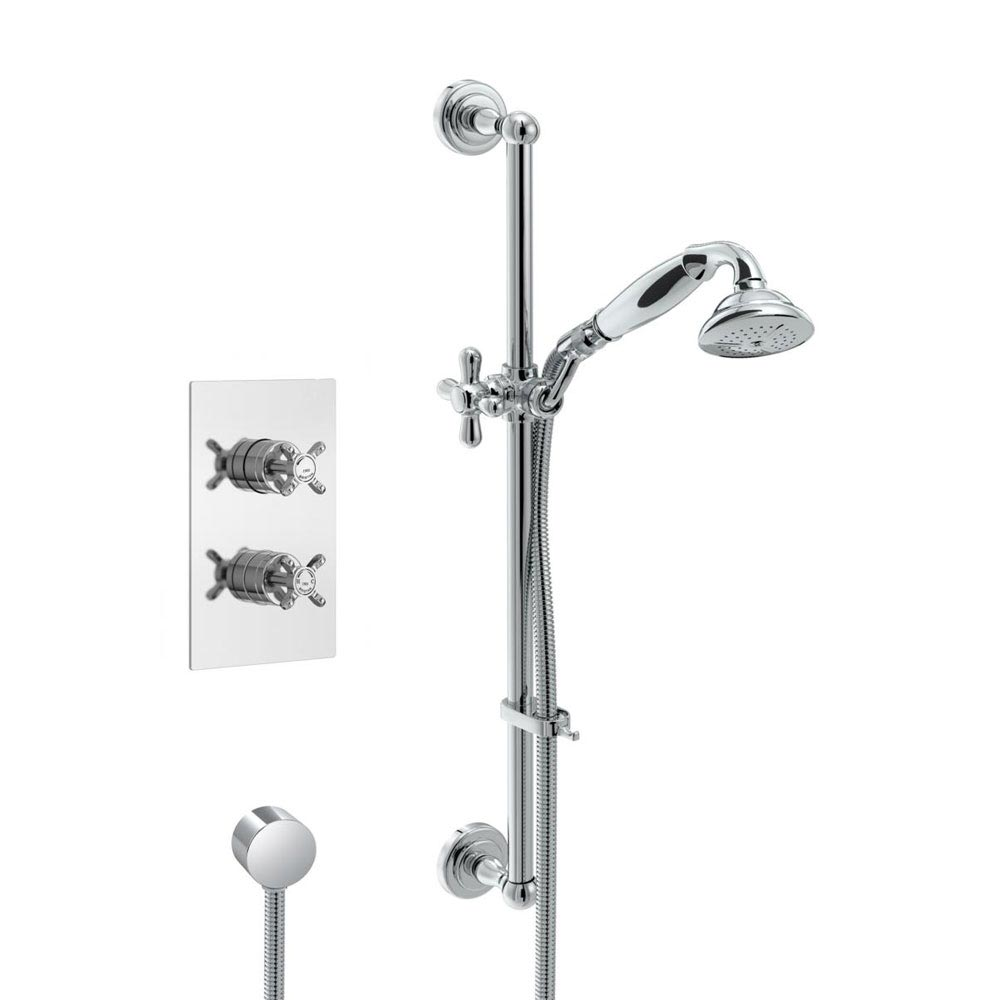Bristan 1901 Traditional Shower Pack with Adjustable Riser Large Image