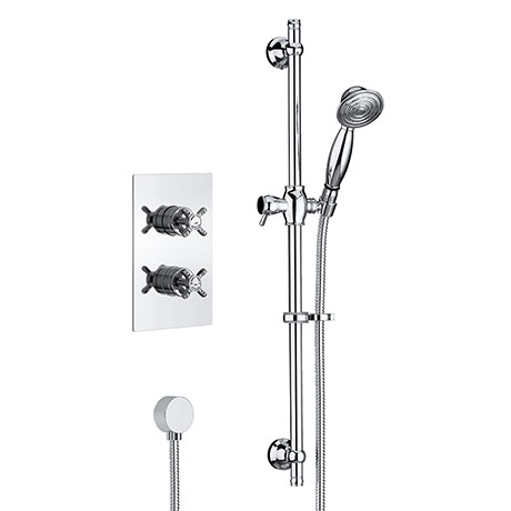 Bristan 1901 Traditional Shower Pack with Adjustable Riser