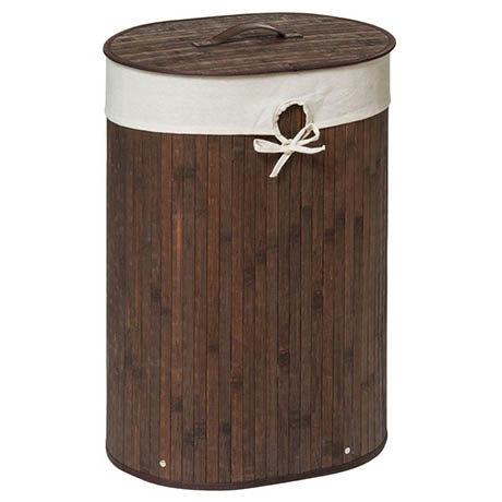Saroma Oval Bamboo Laundry Hamper
