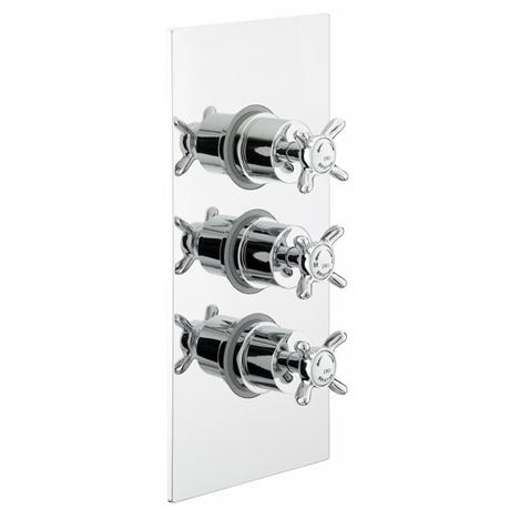 Bristan - 1901 Concealed Dual Control Three Handle Thermostatic Shower Valve - Chrome - N2-SHC3STP-C