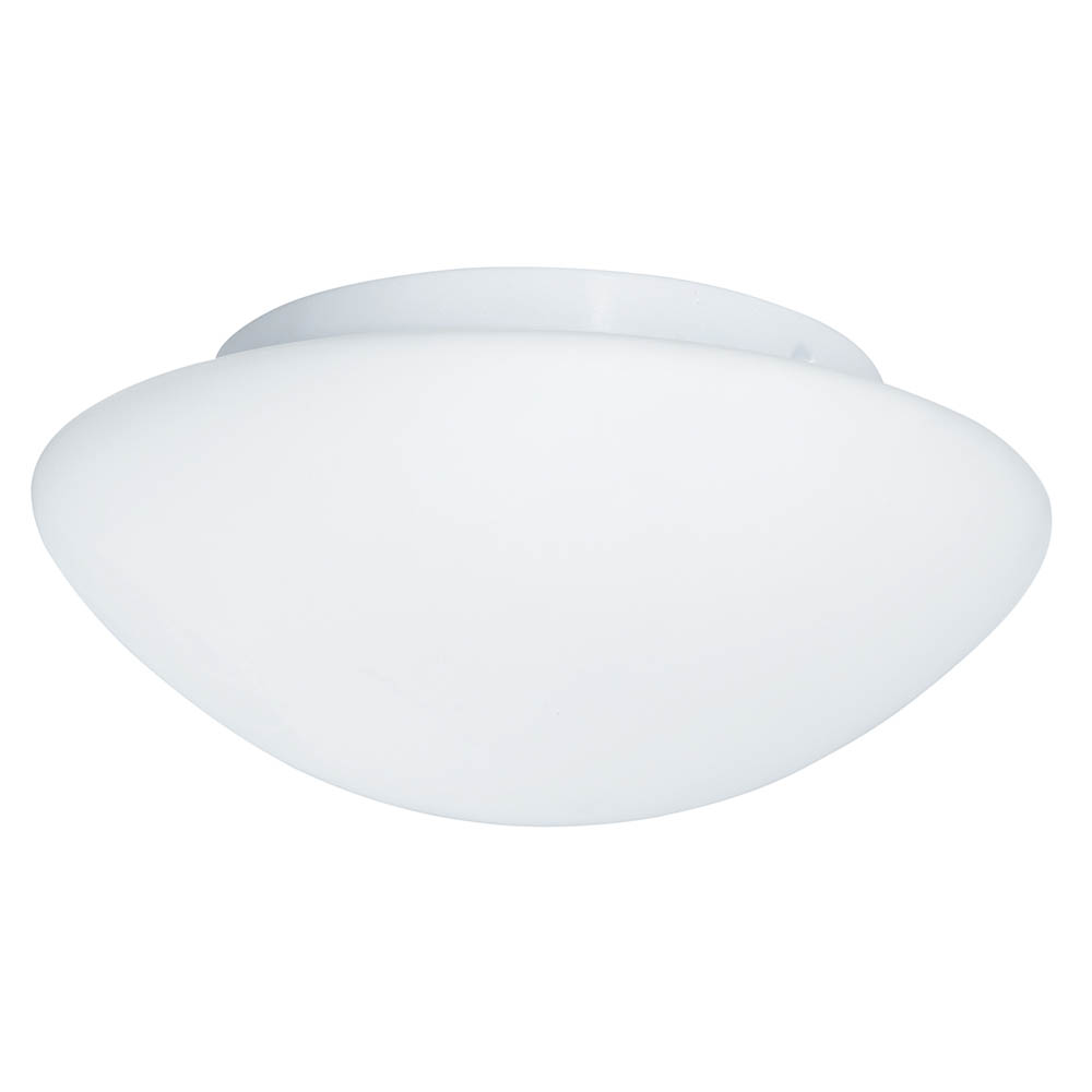 Searchlight IP44 23cm White Flush Fitting with Opal Glass - 1910-23