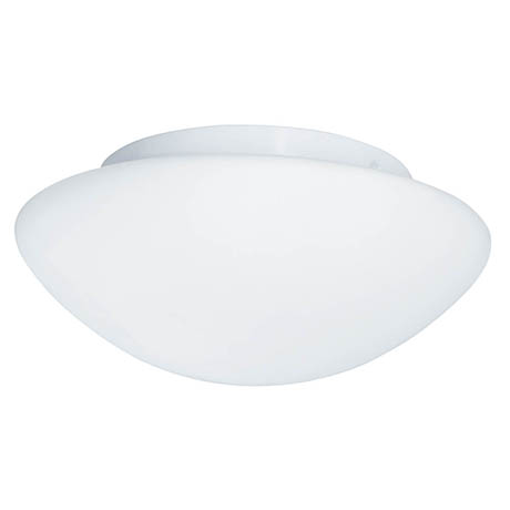 Searchlight IP44 White Flush Fitting with Opal Glass - 1910-23