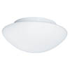 Searchlight IP44 28cm White Flush Fitting with Opal Glass - 1910-28 profile small image view 1