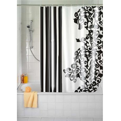 Wenko Ornamento Nero Polyester Shower Curtain - W1800 x H2000mm - 19222100