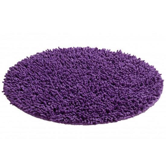 Wenko Tropic Shaggy Bath Mat Purple 19266100 At
