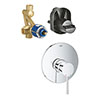 """Grohe Essence Single-Lever Shower Mixer Trim + 1/2"""" Concealed Body profile small image view 1"""