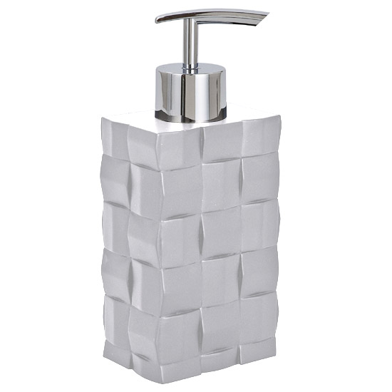 Wenko Relief White Soap Dispenser - 19423100 Large Image