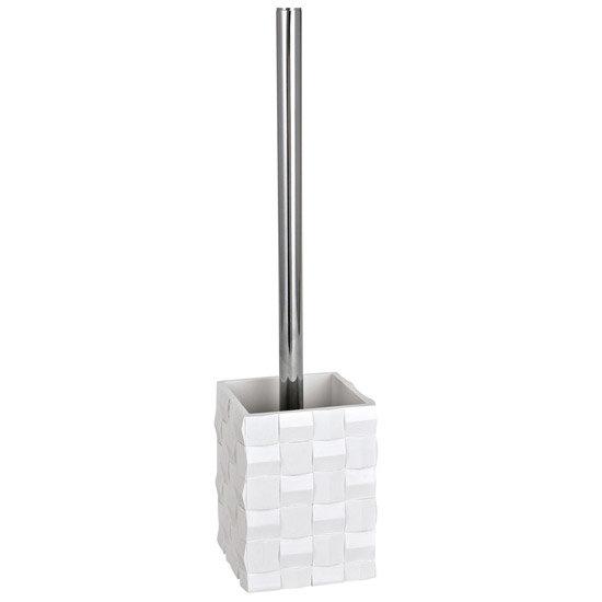 Wenko Relief White Toilet Brush Set - 19425100 Large Image