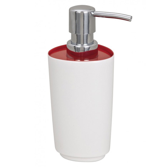 Wenko Alcamo Red Soap Dispenser - 19453100 Large Image
