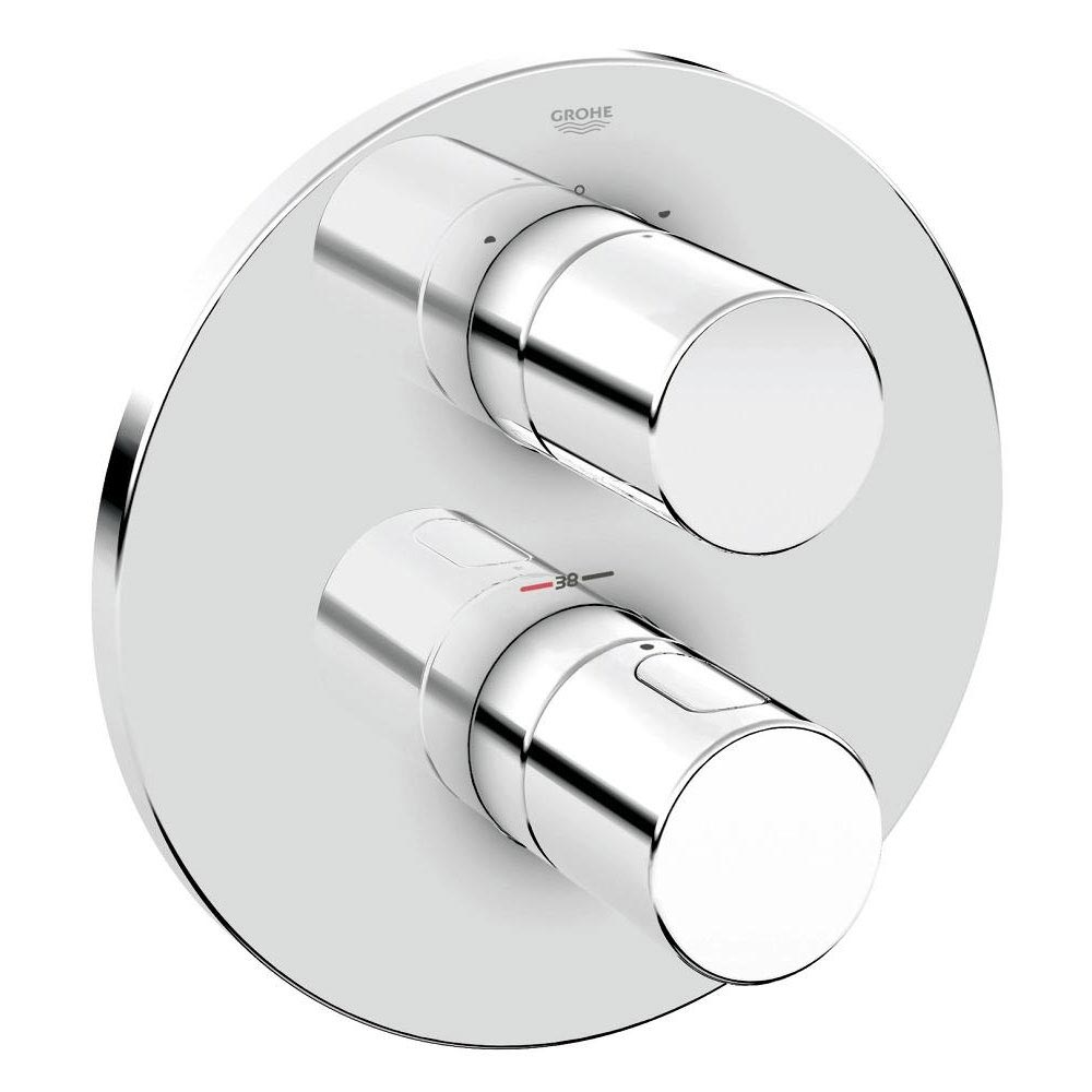 Grohe Grohtherm 3000 Cosmopolitan Thermostat 2-Way Diverter Bath Shower Trim - 19468000 Large Image