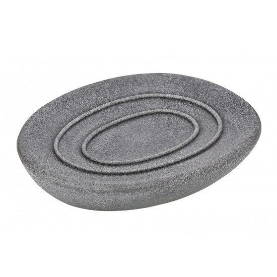 Wenko Pebble Stone Grey Soap Dish - 19491100 Large Image