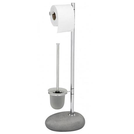 Wenko Pebble Stone Grey Standing WC Set - 19494100