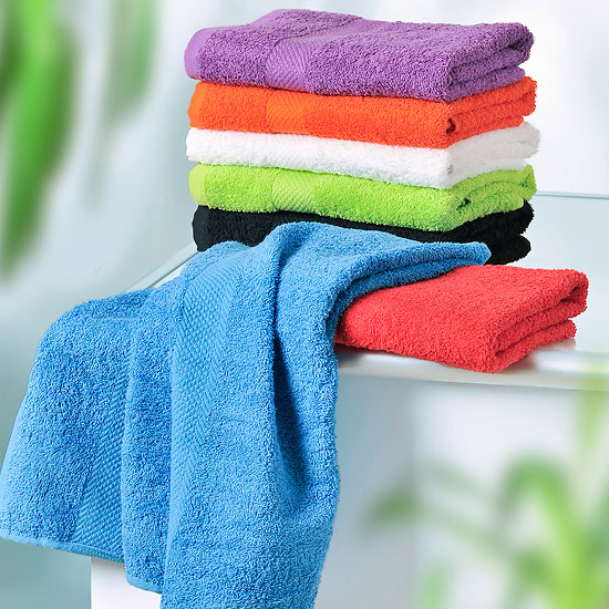 Wenko Terry Cotton Hand Towel - 500 x 1000mm - Orange - 19521100 profile large image view 2