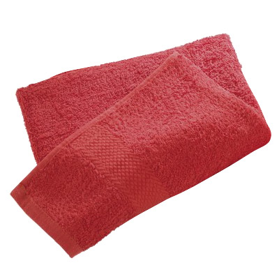 Wenko Terry Cotton Shower Towel - 700 x 1400mm - Red - 19527100 Large Image