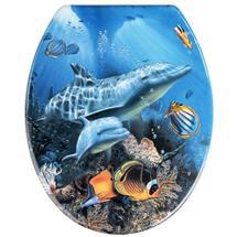 Wenko Sea Life Duroplast Toilet Seat - 19551100 Medium Image