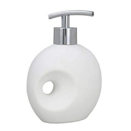 Wenko Hole Ceramic Soap Dispenser - White - 19558100
