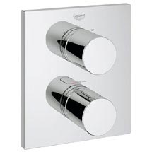 Grohe Grohtherm 3000 Cosmopolitan Thermostat 2-Way Diverter Bath Shower Trim - 19567000 Medium Image