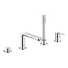 Grohe Lineare 4-Hole Single Lever Bath Combination - 19577001 profile small image view 1