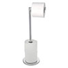 Wenko 2-in-1 Stainless Steel Freestanding Toilet Paper Holder - 19637100 profile small image view 1