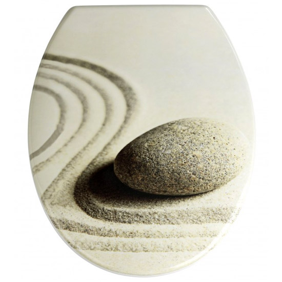 Wenko Sand & Stone Duroplast Toilet Seat - 19651100 profile large image view 1