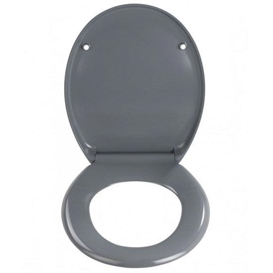 Wenko Ottana Premium Soft Close Toilet Seat - Dark Grey - 19657100 Profile Large Image