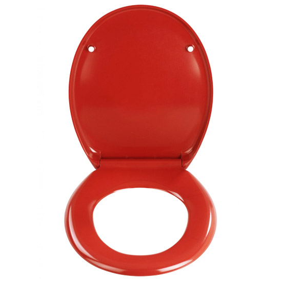 Wenko Ottana Premium Soft Close Toilet Seat - Red - 19659100 profile large image view 2
