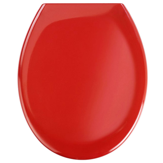 Wenko Ottana Premium Soft Close Toilet Seat - Red - 19659100 profile large image view 1