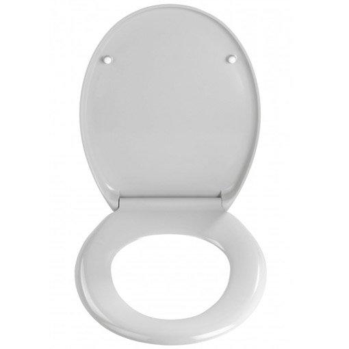 Wenko Ottana Premium Soft Close Toilet Seat - Grey - 19660100 Profile Large Image