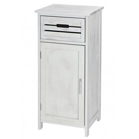 Wenko Scandi Cupboard w/ Drawer & Door - Whitewash - 19793100