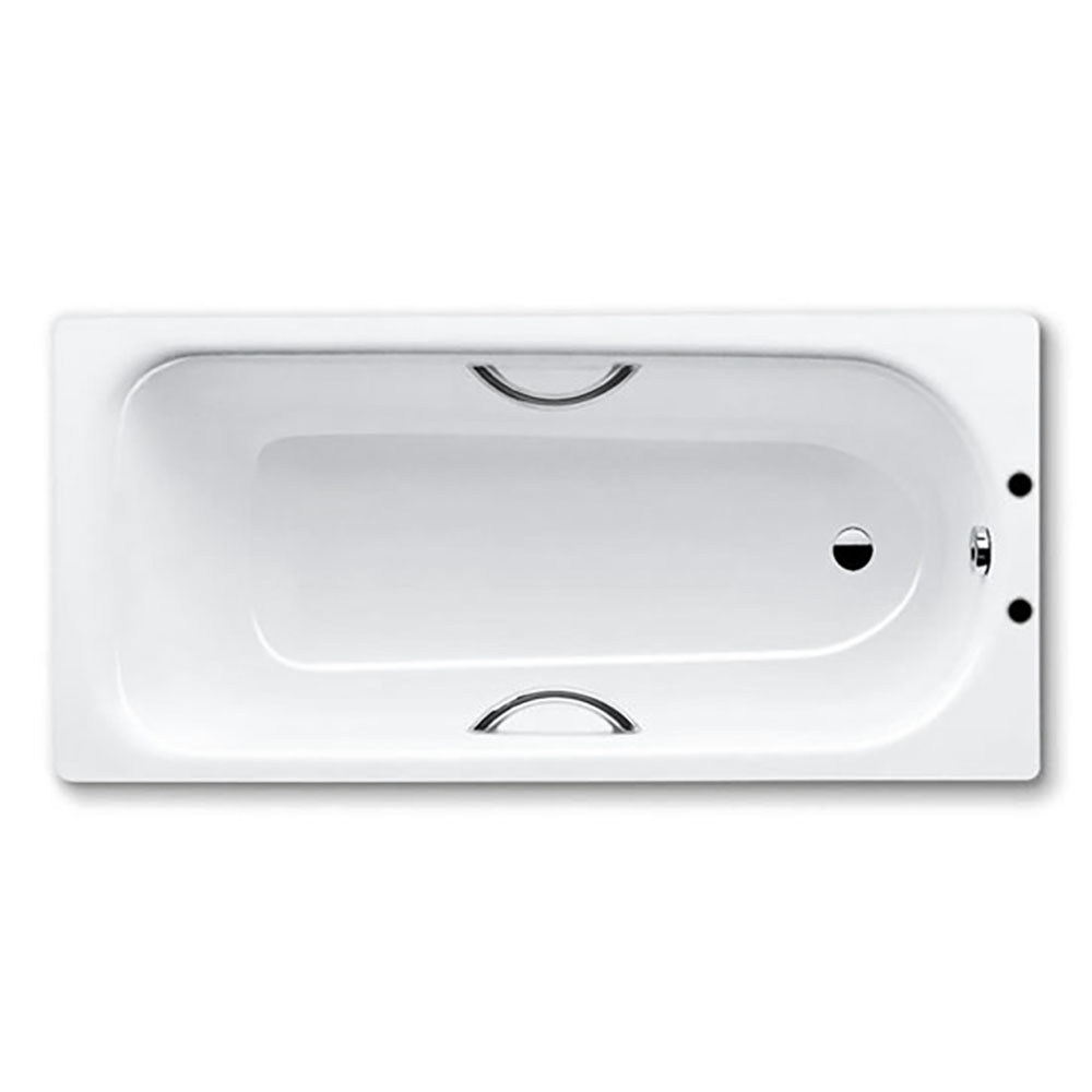 Kaldewei Eurowa 1700 x 700mm 2TH Steel Enamel Bath with Twin Grips & Anti Slip