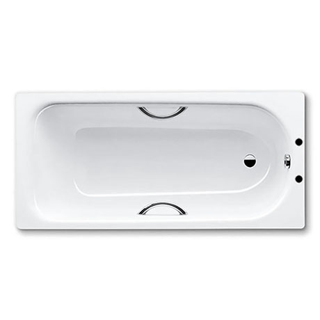 Kaldewei Eurowa 1700 x 700mm Steel Enamel Bath with Twin Grips & Anti Slip (2TH)