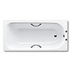 Kaldewei Eurowa 1700 x 700mm 2TH Steel Enamel Bath with Twin Grips & Anti Slip profile small image view 1