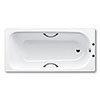Kaldewei Eurowa 1700 x 700mm 2TH Steel Enamel Bath with Twin Grips & Anti Slip profile small image view 1