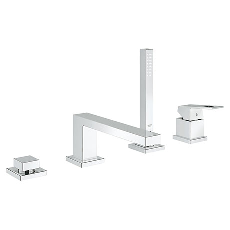 Grohe Eurocube 4-Hole Single Lever Bath Combination - 19897001