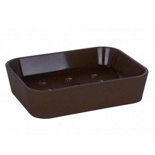 Wenko Rainbow Soap Dish - Brown - 19948100 profile large image view 1
