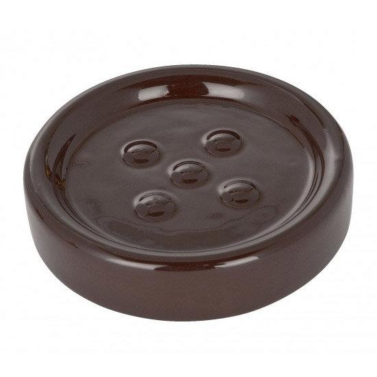 Wenko Polaris Ceramic Soap Dish - Brown - 19952100 Large Image