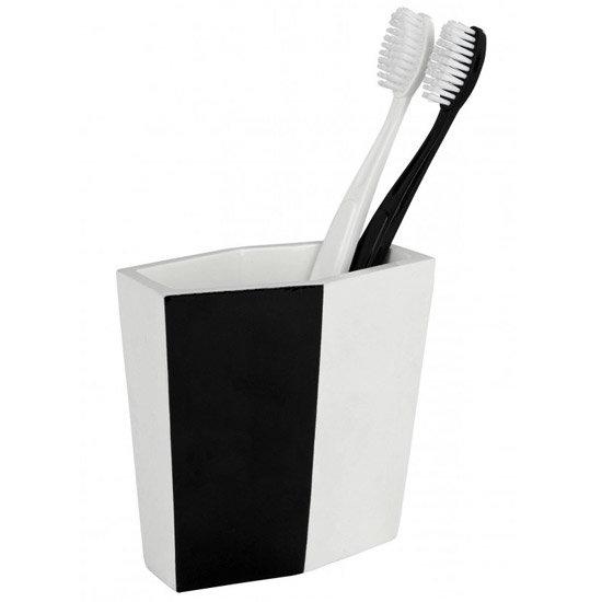 Wenko Bicolour Tumbler - Black/White - 19955100 Large Image