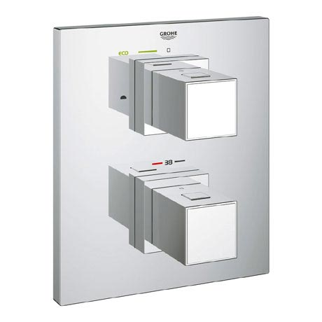 Grohe Grohtherm Cube Thermostat 2-Way Diverter Bath Shower Trim - 19958000