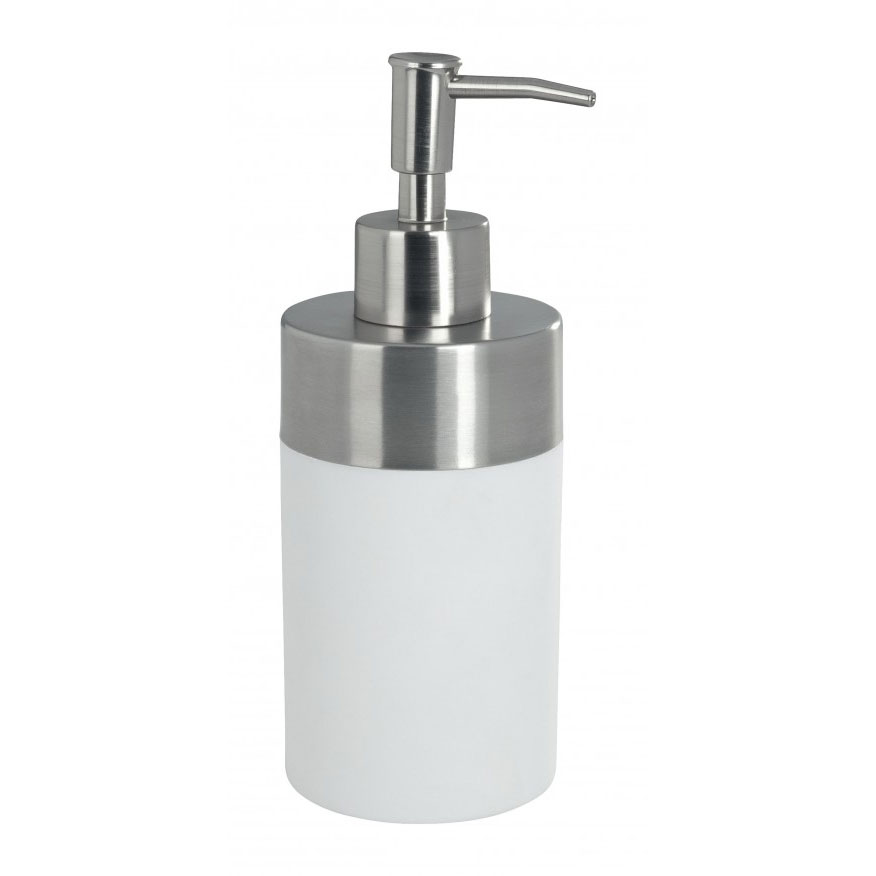 Wenko Creta Soap Dispenser - White - 19974100 Large Image