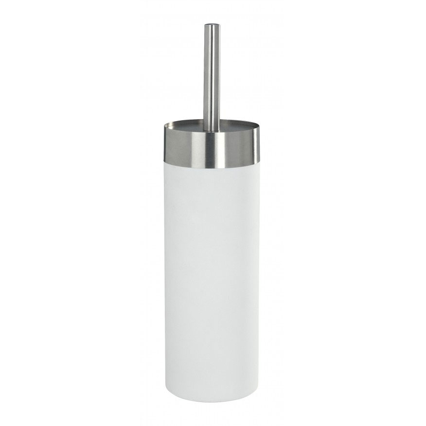 Wenko Creta Toilet Brush & Holder - White - 19978100 Large Image