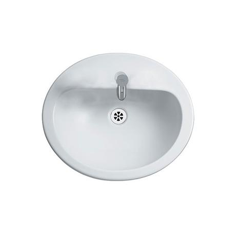 Armitage Shanks - Orbit21 55cm Countertop basin - 1TH with Overflow No Chainhole - S248601