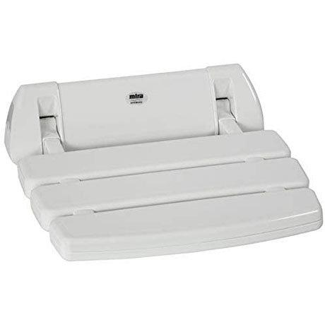 Mira Folding Wall Mounted Shower Seat - White - 2.1536.128