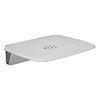 Mira Premium Folding Wall Mounted Shower Seat - White/Chrome - 2.1731.001 profile small image view 1