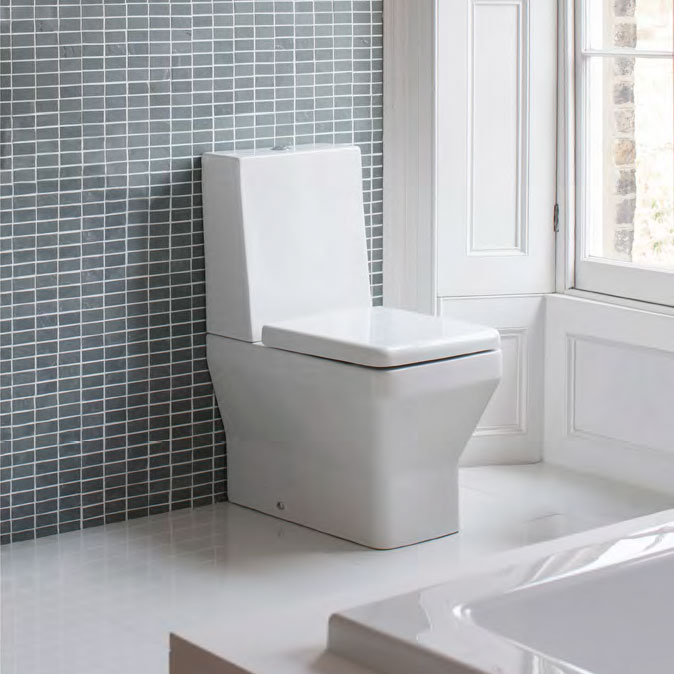 Britton Bathrooms - Cube S20 Close Coupled Toilet with One Piece Cistern & Soft Close Seat profile large image view 3