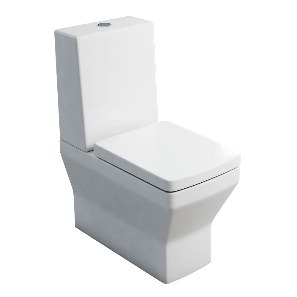 Britton Bathrooms - Cube S20 Close Coupled Toilet with One Piece Cistern & Soft Close Seat profile large image view 1