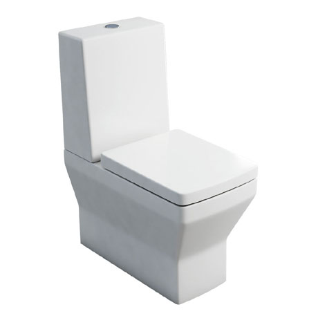 Britton Bathrooms - Cube S20 Close Coupled Toilet with One Piece Cistern & Soft Close Seat