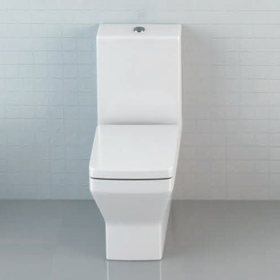 Britton Bathrooms - Cube S20 Close Coupled Toilet & Soft Close Seat profile large image view 2