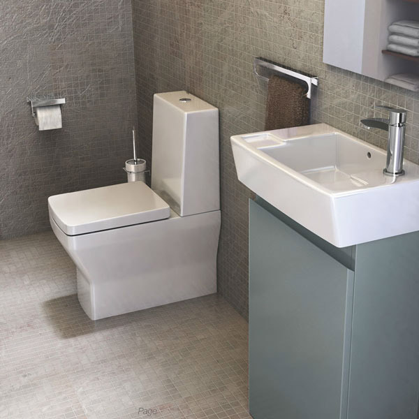 Britton Bathrooms - Cube S20 Close Coupled Toilet & Soft Close Seat profile large image view 3