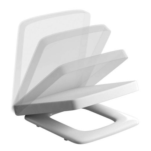 Britton Bathrooms - Cube S20 Close Coupled Toilet & Soft Close Seat profile large image view 4