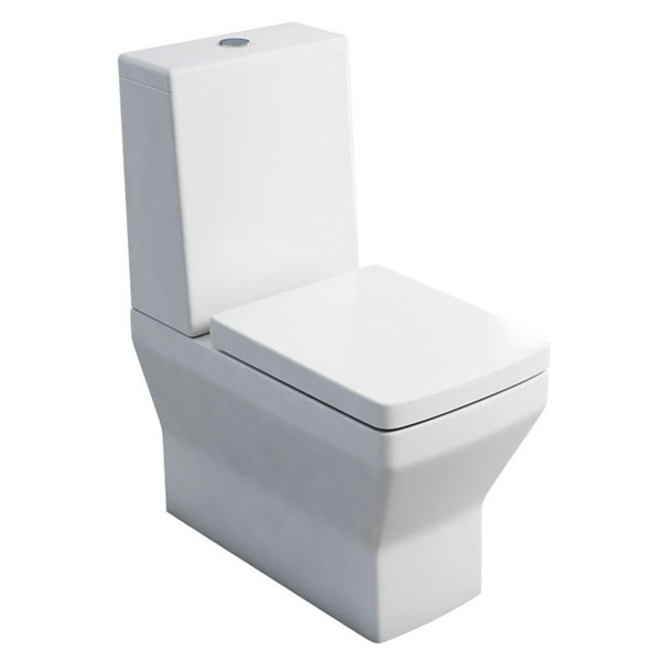 Britton Bathrooms - Cube S20 Close Coupled Toilet & Soft Close Seat Large Image